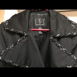 Inc coat, Black with silver metal buttons, lined,